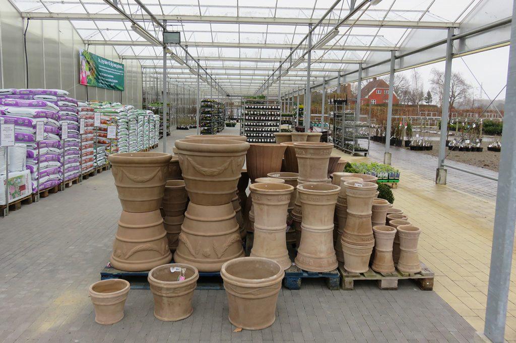 Krukker i Vordingborg Plantehandel